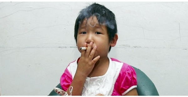 Smoking Child (2)