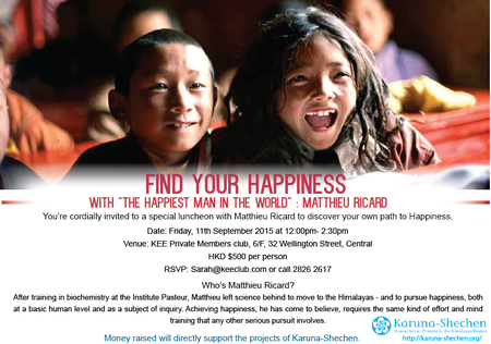 Luncheon Invitation With Matthieu Ricard 11 Sept 2015 Rev